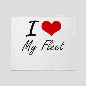 I Love My Fleet Throw Blanket