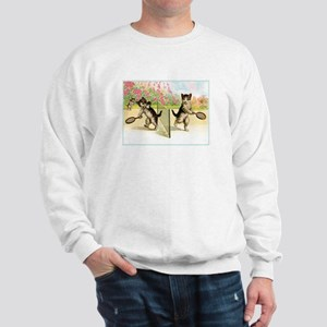 VINTAGE CAT ART Sweatshirt
