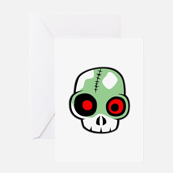 Zombie Head Greeting Cards