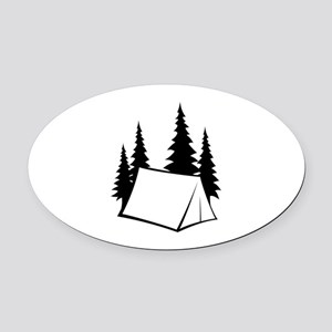 Camp Site Oval Car Magnet