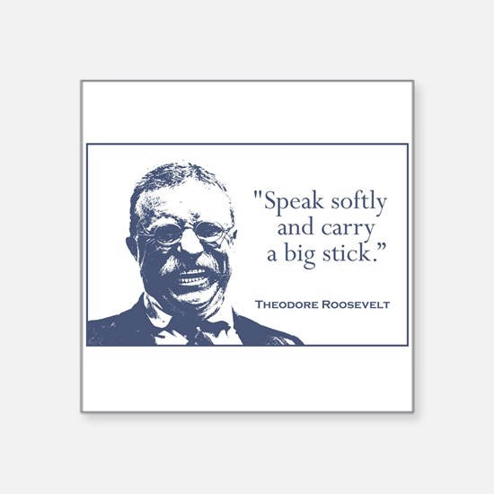 "Cute Teddy roosevelt Square Sticker 3"" x 3"""