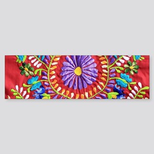Mexican Embroidery Bumper Sticker