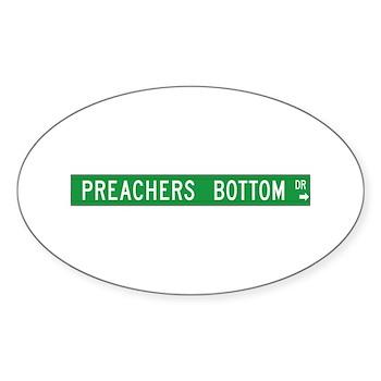 Preacher Bottom, Moravian Falls (NC) Sticker (Oval