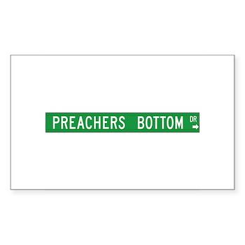 Preacher Bottom, Moravian Falls (NC) Sticker (Rect
