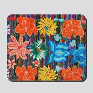 Mexican Flower Embroidery Mousepad