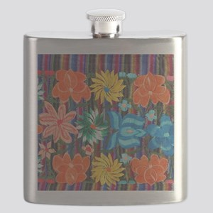 Mexican Flower Embroidery Flask