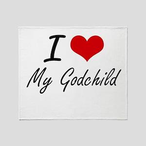 I Love My Godchild Throw Blanket