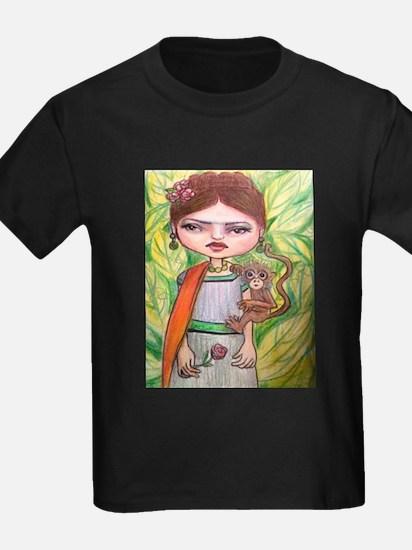 Frida and her monkey T-Shirt
