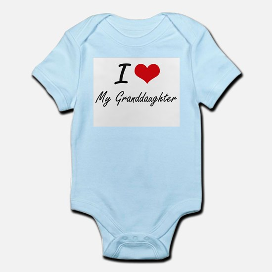 I Love My Granddaughter Body Suit