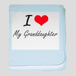 I Love My Granddaughter baby blanket