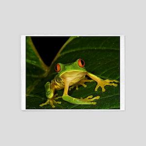 Red-eyed Leaf Frog 5'x7'Area Rug