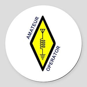 Amateur Operator Round Car Magnet