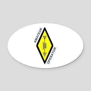 Amateur Operator Oval Car Magnet