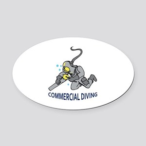 Commercial Diving Oval Car Magnet