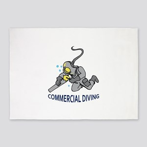 Commercial Diving 5'x7'Area Rug