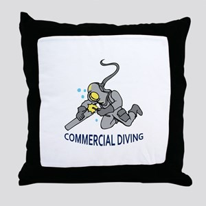 Commercial Diving Throw Pillow