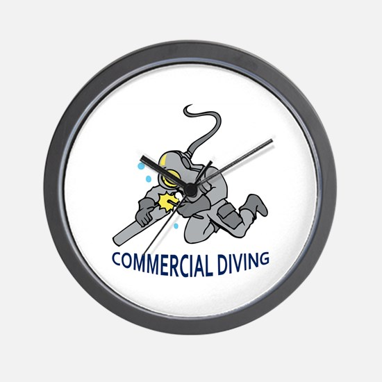 Commercial Diving Wall Clock