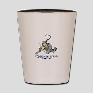 Commercial Diving Shot Glass