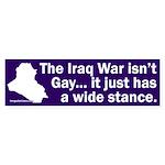 Iraq Wide Stance Bumper Sticker