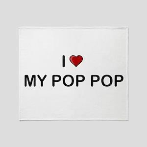 I Love My Pop Pop Throw Blanket
