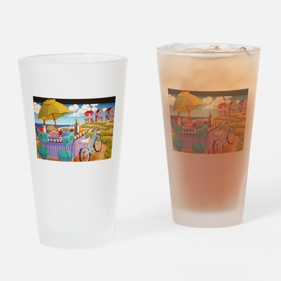 Summer at the Seashore Drinking Glass
