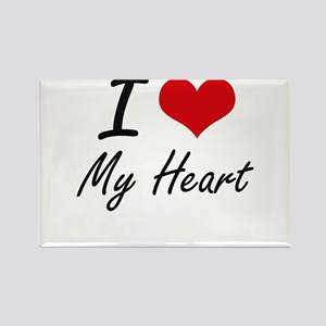 I Love My Heart Magnets
