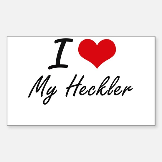 I Love My Heckler Decal