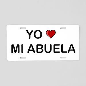 Yo Amo Mi Abuela Aluminum License Plate