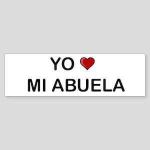 Yo Amo Mi Abuela Bumper Sticker
