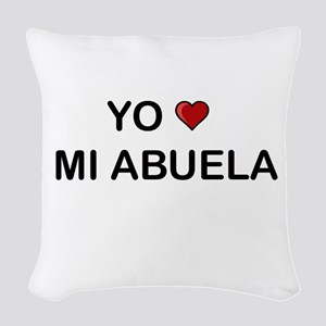 Yo Amo Mi Abuela Woven Throw Pillow