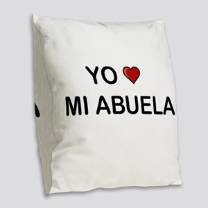 Yo Amo Mi Abuela Burlap Throw Pillow