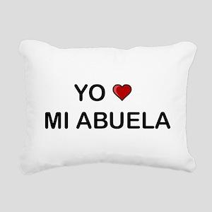 Yo Amo Mi Abuela Rectangular Canvas Pillow