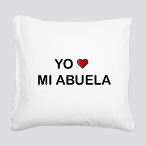Yo Amo Mi Abuela Square Canvas Pillow