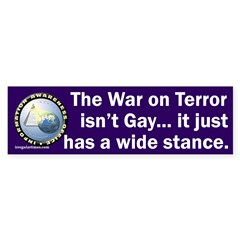 War on Terror Wide Stance Bumper Sticker