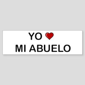 Yo Amo Mi Abuelo Bumper Sticker