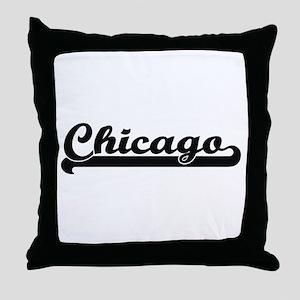 I love Chicago Illinois Throw Pillow
