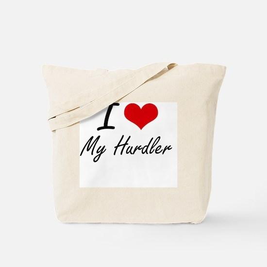 I Love My Hurdler Tote Bag