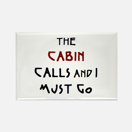 cabin calls Rectangle Magnet