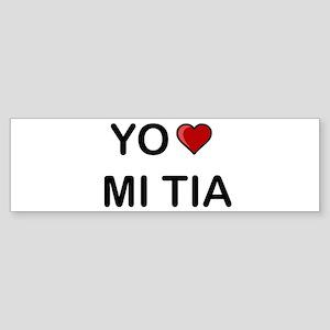Yo Amo Mi Tia Bumper Sticker