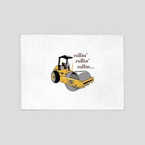 Rollin Rollin 5'x7'Area Rug