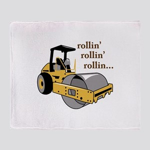 Rollin Rollin Throw Blanket