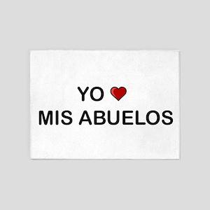Yo Amo Mis Abuelos 5'x7'Area Rug