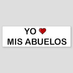 Yo Amo Mis Abuelos Bumper Sticker