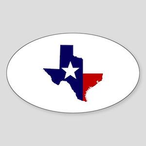 TEXAS LONESTAR WHITE RED Sticker (Oval)