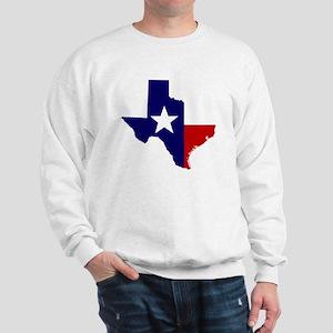 TEXAS LONESTAR WHITE RED Sweatshirt
