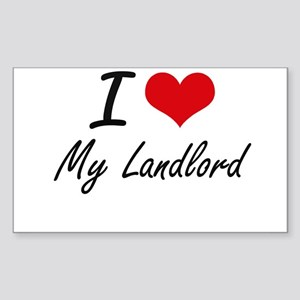 I Love My Landlord Sticker