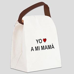 Yo Amo A Mi Mamá Canvas Lunch Bag