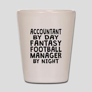 Accountant Fantasy Football Manager Shot Glass