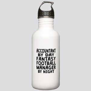 Accountant Fantasy Football Manager Water Bottle