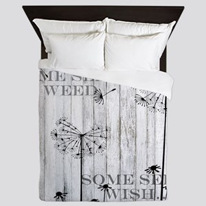 Dandelion Wish Queen Duvet